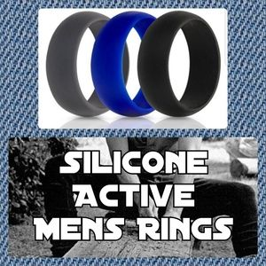 Other - 曆Set of 3 Silicone Active Mens Rings